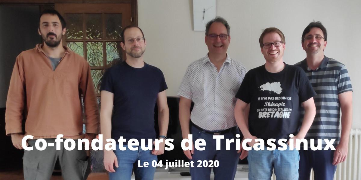 les co-fondateurs de Tricassinux, le 04/07/2020.