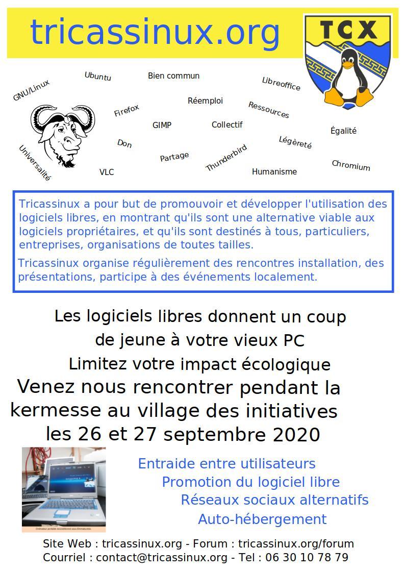 Affiche Tricassinux Rencontre à la Kermesse Troyes 2020
